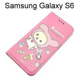 拉拉熊 懶懶熊側掀皮套 [玩偶粉紅熊] Samsung G9200 Galaxy S6【San-X正版授權】