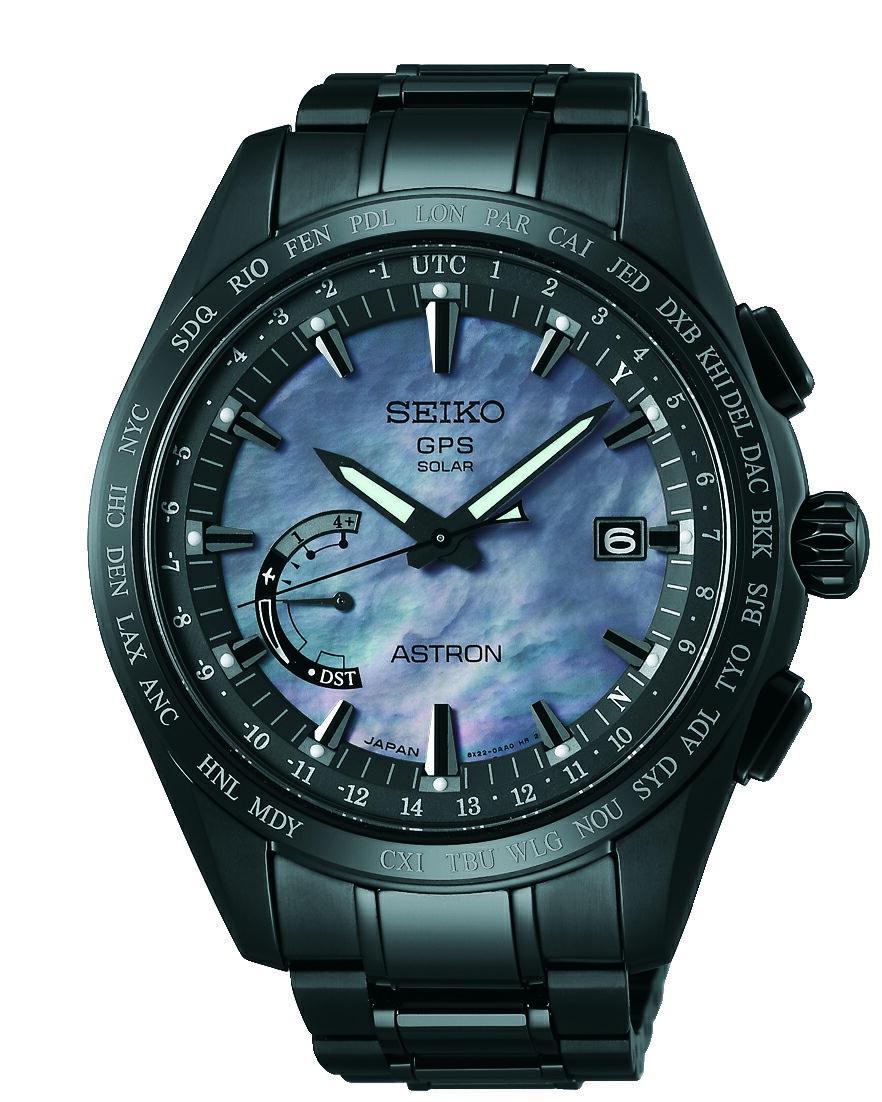 SEIKO 精工 ASTRON GPS 鈦衛星太陽能限量電波套錶 騎士黑 8X22-0AF0SD (SSE091J1) 45mm