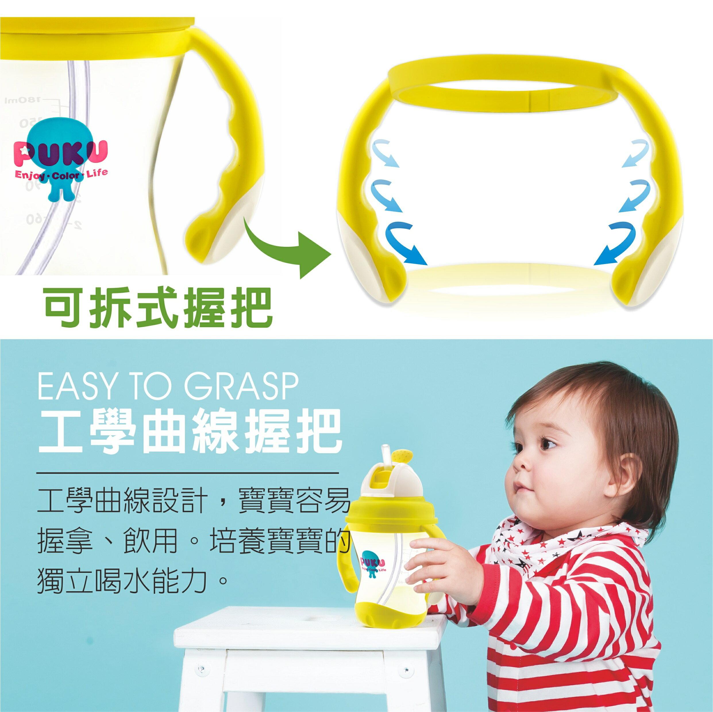 『121婦嬰用品館』PUKU 太空滑蓋吸管練習杯180ml 7