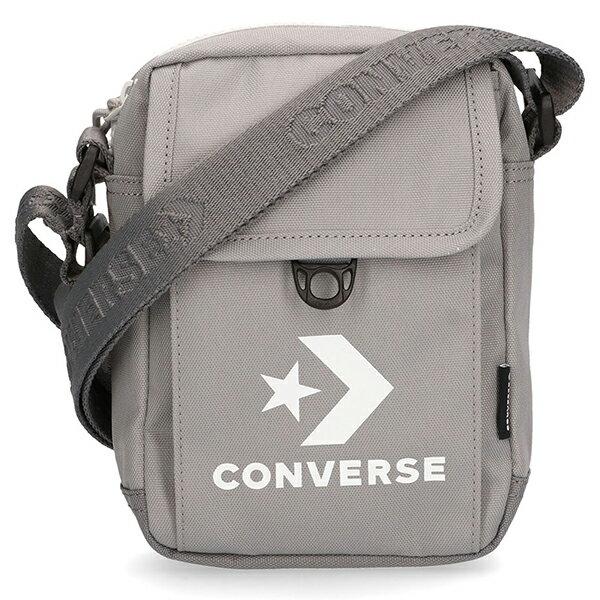Shoestw【10008299-A05】CONVERSE 側背包 斜背包 小側背包 隨身包 復古LOGO 灰色 ALLSTARS