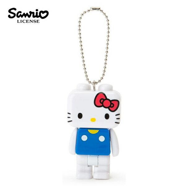 【日本正版】凱蒂貓積木造型手電筒吊飾HelloKitty三麗鷗Sanrio-616734