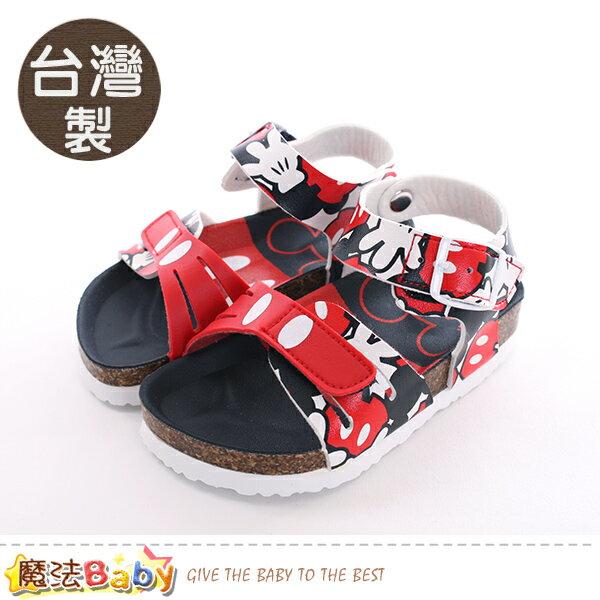 童鞋台灣製迪士尼米奇正版兒童涼鞋魔法Baby~sk0410