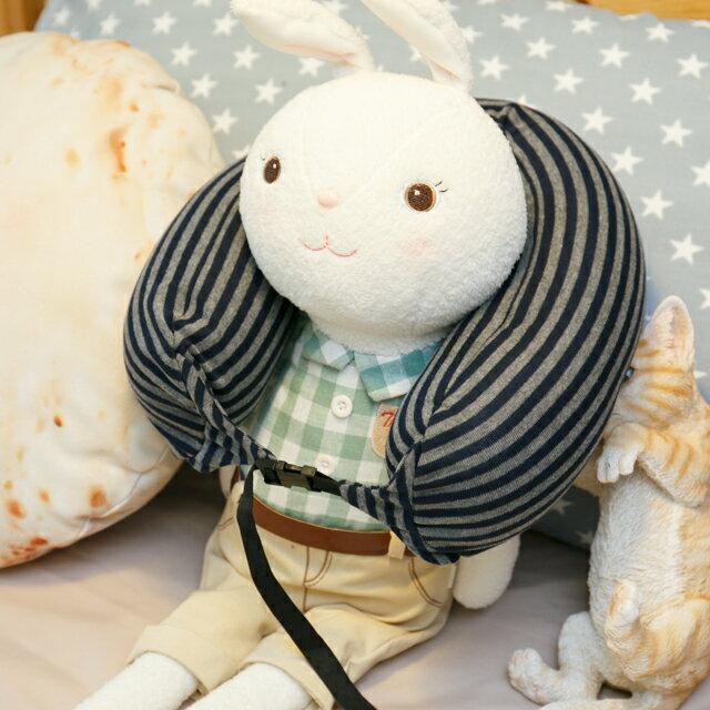 無印風格 線條頸枕(微粒) 紓壓/休息 便利實用 2色可選 5