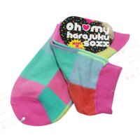 愚人節KUSO包包配件推薦到【銀站】日本Oh my harajuku soxx 彩色塊狀短襪就在銀站推薦愚人節KUSO包包配件