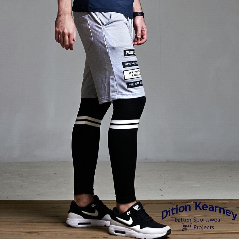 DITION 經典聯名布章短棉褲 球褲 GD內搭褲 1