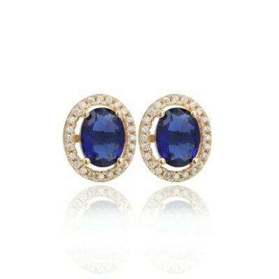 ~925純銀耳環鑲鑽耳飾~高貴 耀眼迷人生日情人節 女飾品2色73dm26~ ~~米蘭 ~