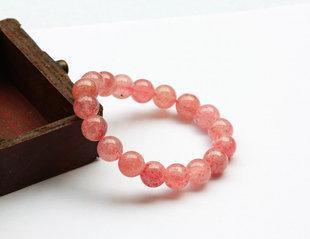 草莓晶手鏈水晶手鏈女款