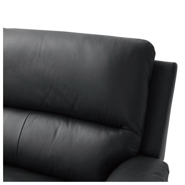 ◎半皮3人用電動可躺式沙發 N-BEAZEL BK NITORI宜得利家居 5