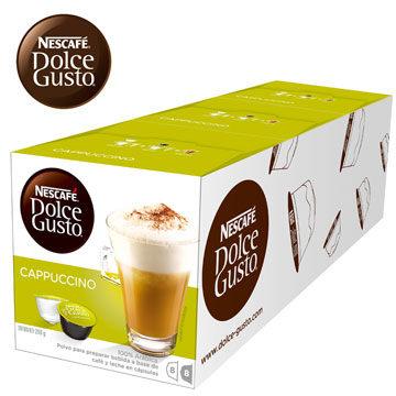 雀巢卡布奇諾膠囊(Cappuccino)(3盒組,共48顆)加贈黑人專業護齦抗敏感牙膏120g