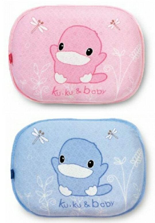 KUKU 酷咕鴨 涼感嬰兒枕替換枕套 (藍/粉)