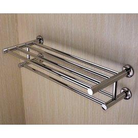 ↘ 衛浴配件下殺5折起↘雙層雙桿304不銹鋼不鏽鋼置衣架 放衣架 毛巾架 置物架 浴室小幫手 衛浴好收納 (拋光亮面) 上下雙層收納工具 YC680