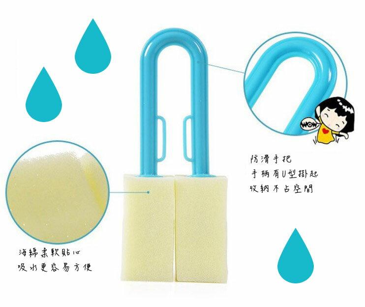 韓版魔術U型海棉雙面刷(一組3入隨機出色)