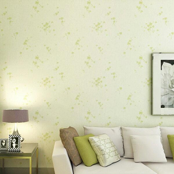 WallFree窩自在★多款防水PVC自黏裝飾牆紙-三葉草(自黏式壁貼居家自黏式壁貼)