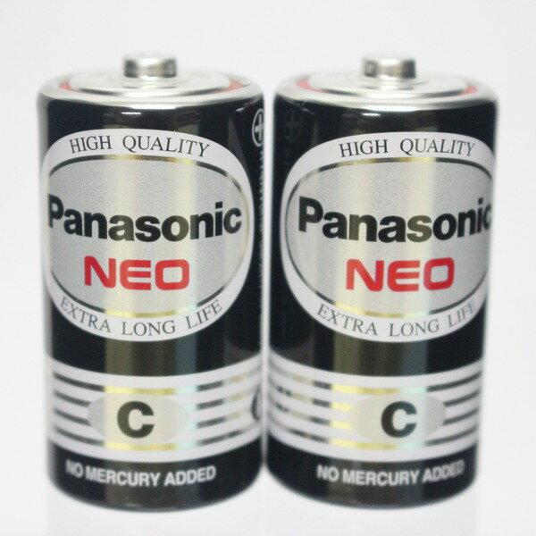 Panasonic 國際牌 C-2號環保電池(黑色)/一小包2個入{促55} 1.5V 2號電池