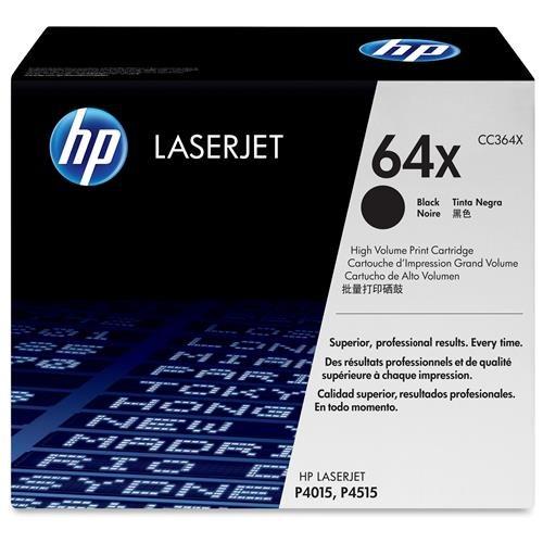 HP 64X Original Toner Cartridge - Single Pack - Laser - 24000 Pages - Black - 1 Each 0