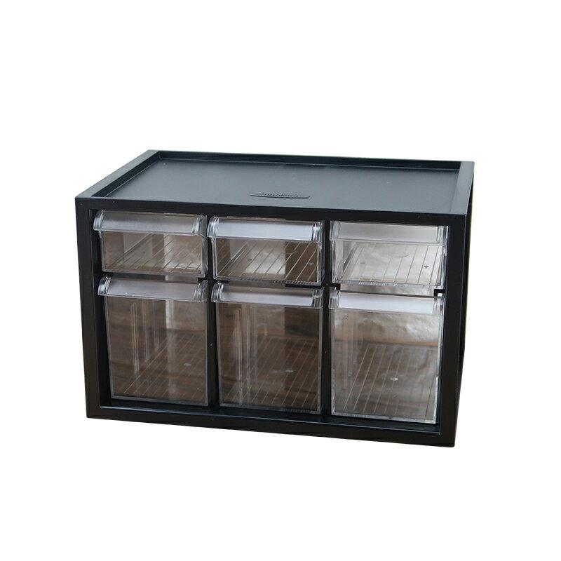 樹德迷你零件分類箱6小格抽屜文具飾品小物收納箱書桌收納盒A9-333-大廚師百貨