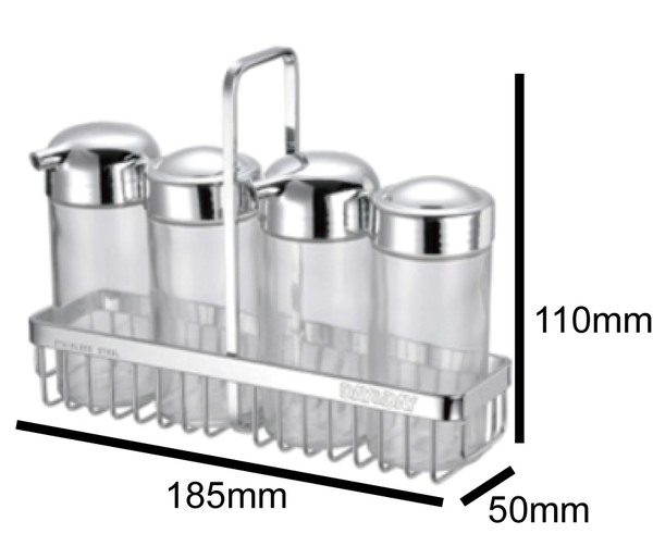 洗樂適衛浴:DAY&DAY桌上型調味罐架組(ST3029SA)