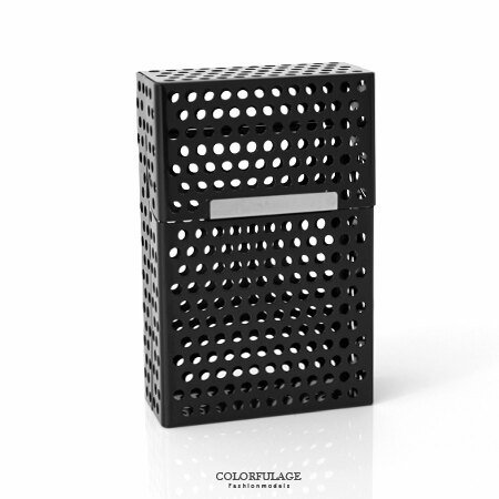 香菸盒 簡約洞洞鏤空磁扣式 煙盒 獨特型男單品   柒彩年代~NL142~輕巧易攜帶