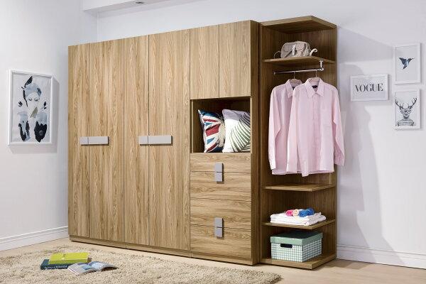 【尚品家具】HY-A94-01米蘭8.5尺系統式衣櫥~可拆買