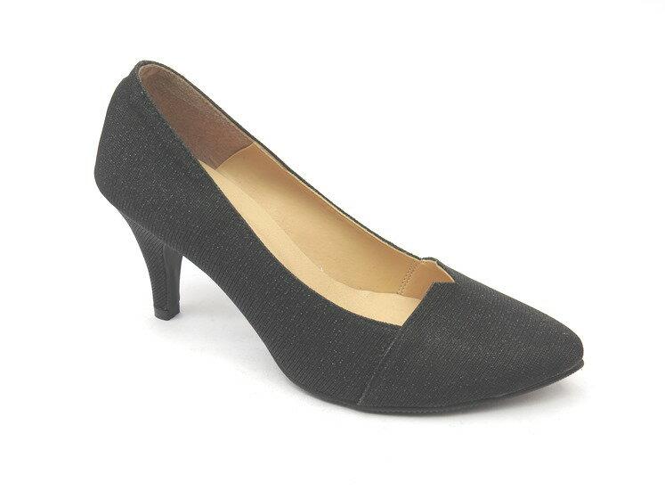 *高跟鞋* 簡約舒適高跟尖頭包鞋18-3017(黑)☆【彩虹屋】☆現+預