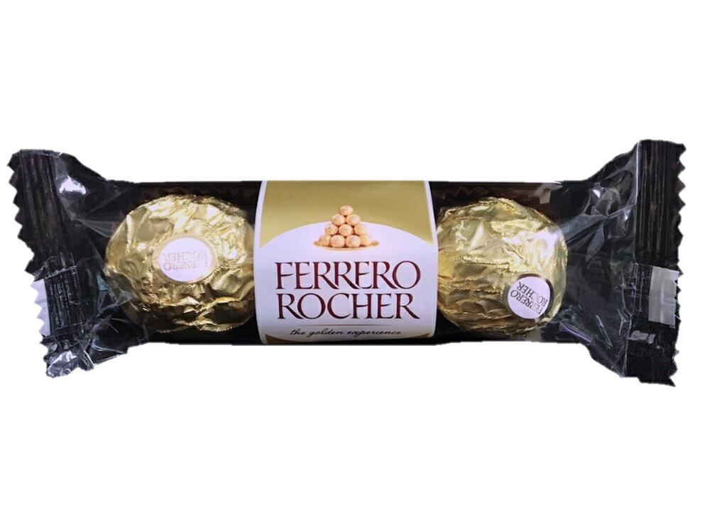 原味 金莎 榛果 巧克力 三粒裝 情人節禮物 聖誕節禮物 過年 榛果巧克力 零食 三顆裝 0