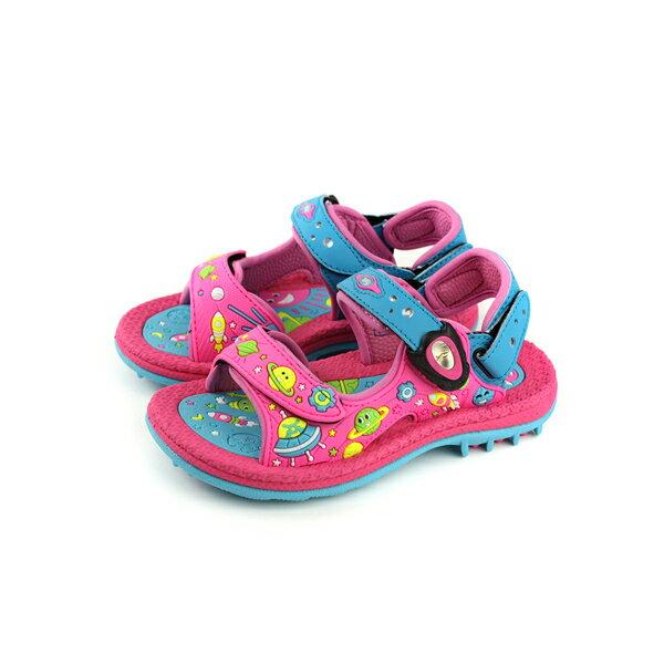 GP(Gold.Pigon)涼鞋防水雨天桃紅藍中童童鞋G8680B-44no941