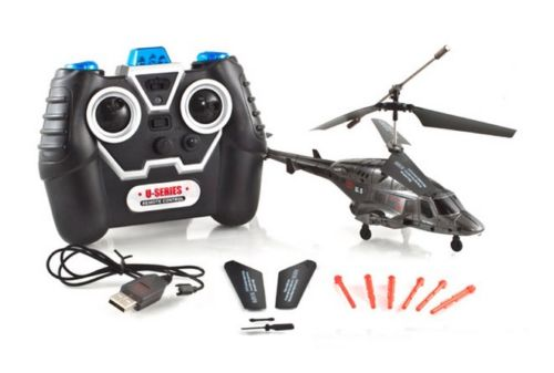 Missile Shooting RC Helicopter Fly Wolf UDI U810 Combat Fighter Remote  Control