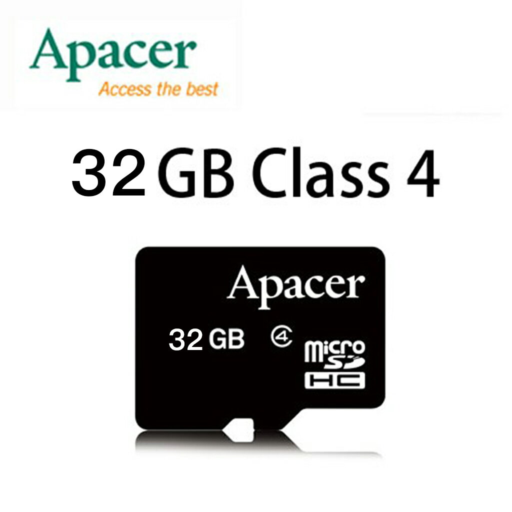 ▶加贈讀卡機◀【升級Class 4】APACER MicroSD 32G /T-FLASH / Micro SD / TF 32GB ~宇瞻終身保固~