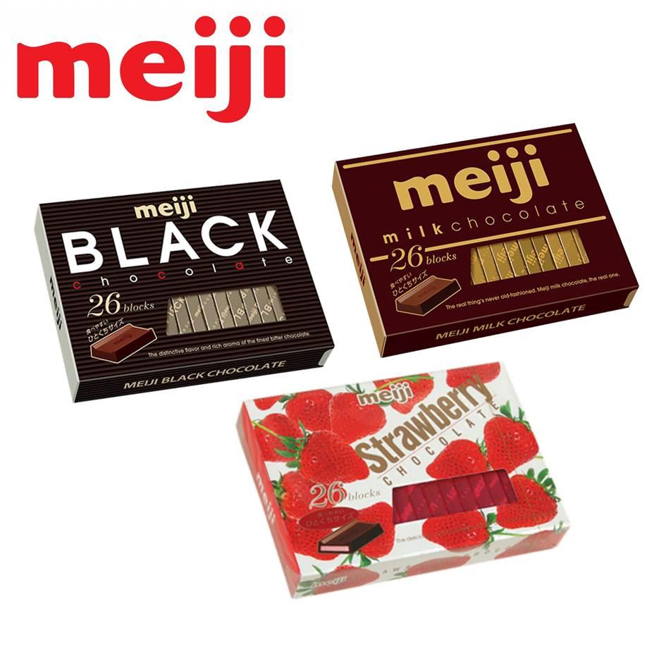 Meiji明治巧克力26枚(牛奶/草莓/黑巧克力)-三種口味 #01010157【建議選用低溫宅配】