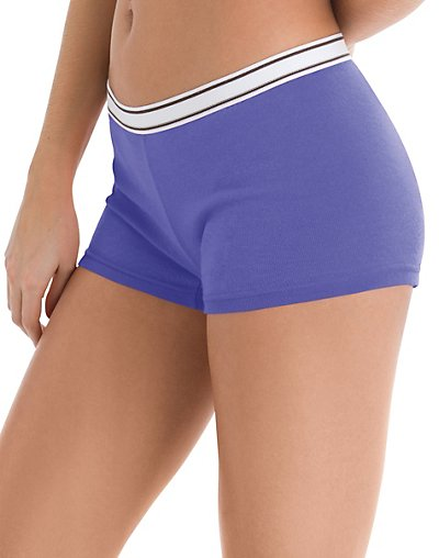 a948e6f513a Hanes Cool Comfort Women's Cotton Sporty Boy Brief Panties 6-Pack 0