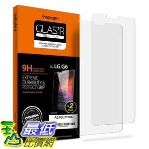 [106美國直購] Spigen B06XJFDTN7 9H 手機螢幕保護貼 LG G6 [2 Pack]