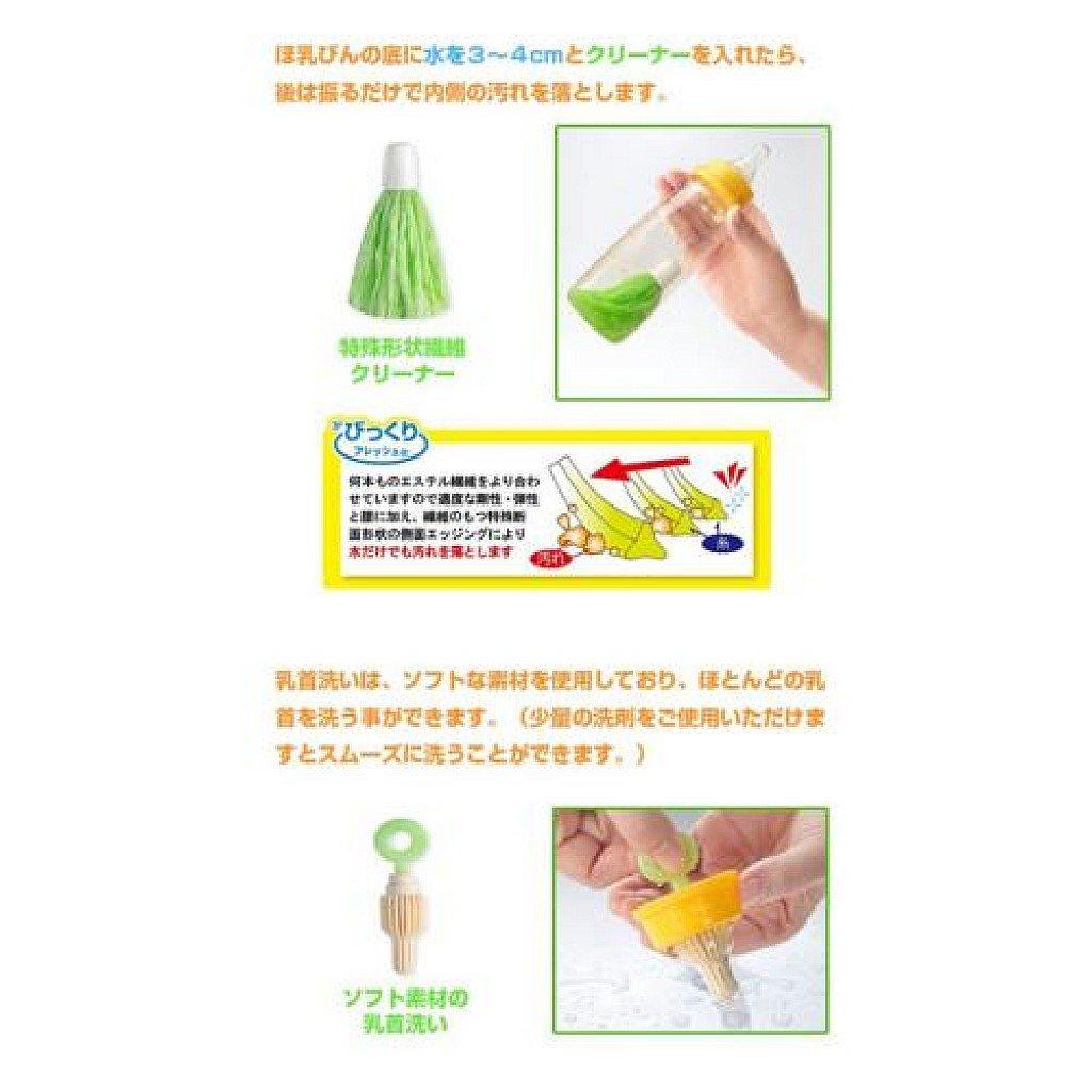日本SANKO攜帶式魔法奶瓶刷組(粉色 / 綠色)嬰幼兒奶瓶奶嘴清潔刷 6