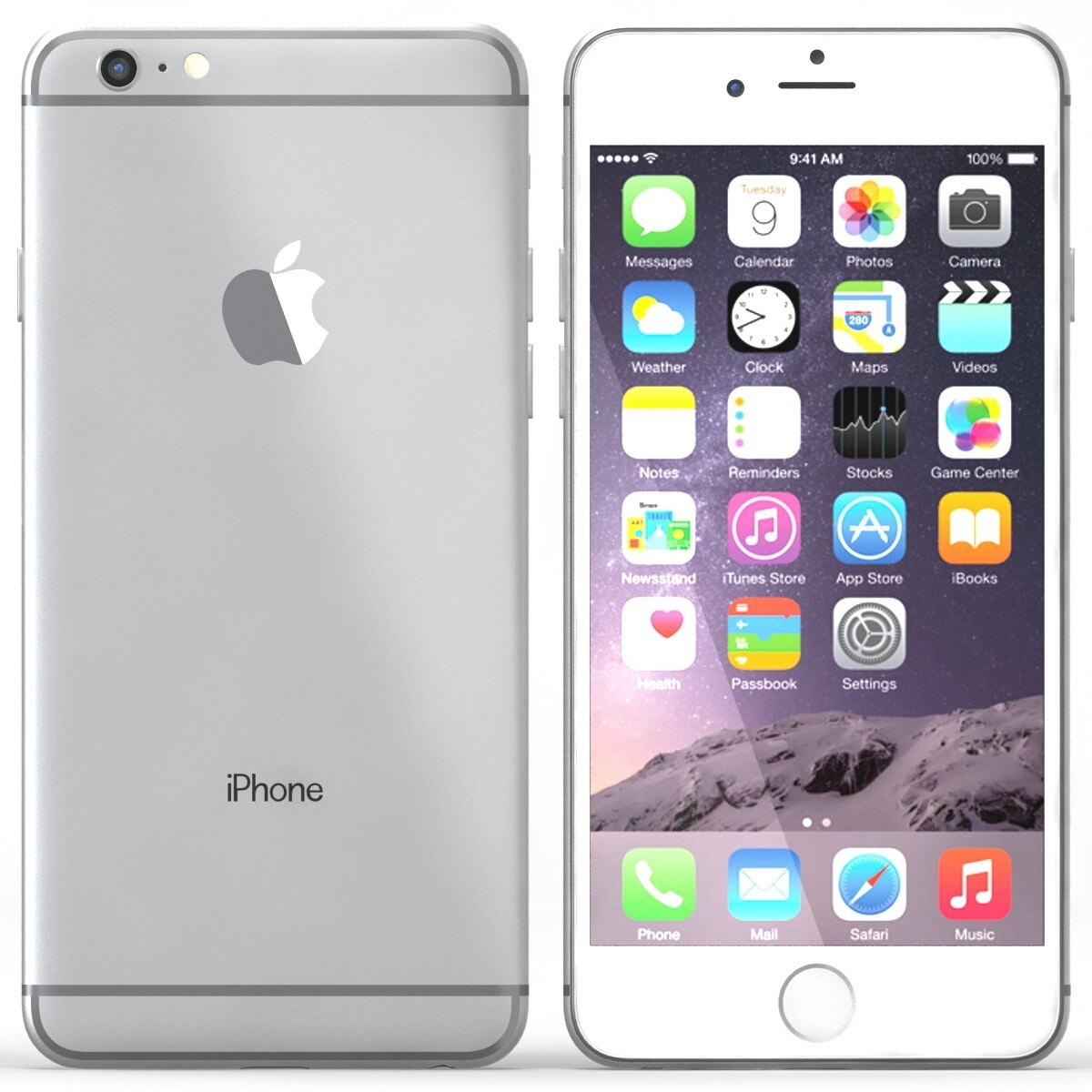 """Apple iPhone 6 16GB 4.7"""" Display GSM Unlocked Cellphone New Sealed - Silver 0"""