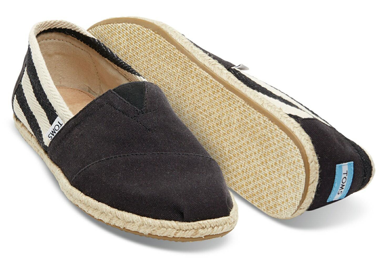 【TOMS】黑色寬條紋學院風平底鞋  Black Stripe University Women's Classics 4