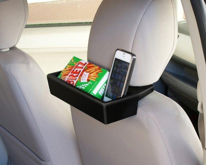權世界@汽車用品 日本 SEIKO 汽車專用座椅頭枕固定椅背平板電腦置物架 餐飲架 EB-178