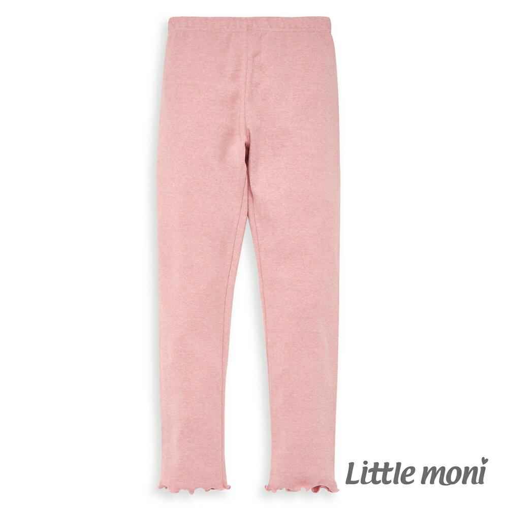 Little moni 褲口花邊合身褲-粉紅(好窩生活節) - 限時優惠好康折扣