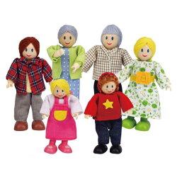 德國 Hape 愛傑卡 現代白人家庭/娃娃屋系列