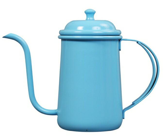 金時代書香咖啡 正晃行 AKIRAKOKI 馬卡龍色不銹鋼細口手沖壺 天空藍色 C9-BU