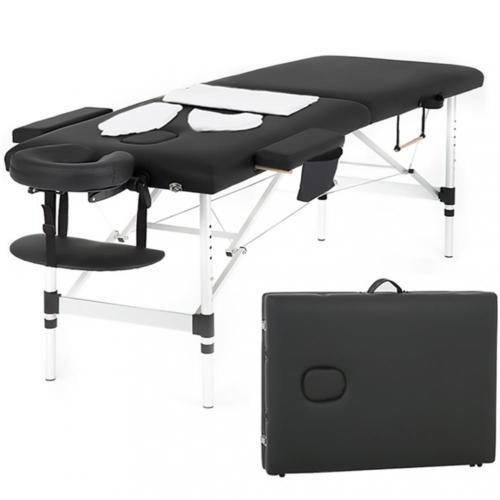 70e12cbfc735 Massage Table Heigh Adjustable 2 Fold W Face Cradle 73inch Portable Aluminium  Bed 0