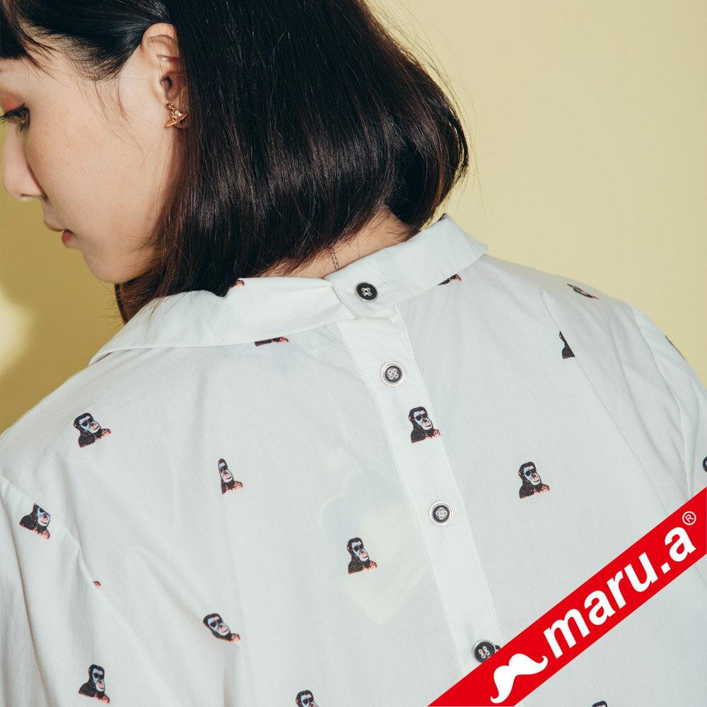 【maru.a】領子刺繡滿版印花襯衫(2色)8323118 5
