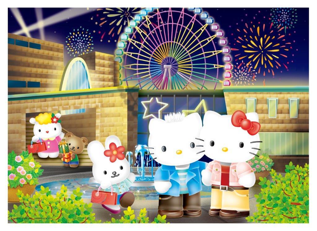 Hello Kitty&Dear Daniel煙花摩天輪拼圖520片 - 限時優惠好康折扣