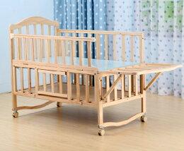 實木嬰兒床 床護欄 遊戲床 搖床 書桌 蚊帳
