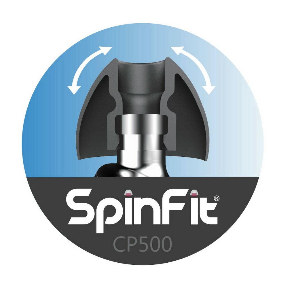 志達電子 CP500 一對入 SpinFit  會動的耳塞 專利技術 專為導音管頂端較大的耳機所設計