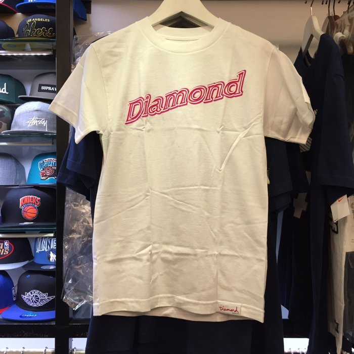 BEETLE PLUS 西門町 全新 DIAMOND SUPPLY CO NEON SCRIDT 霓虹燈 白 TEE D14DPA61WHT DA-26 0