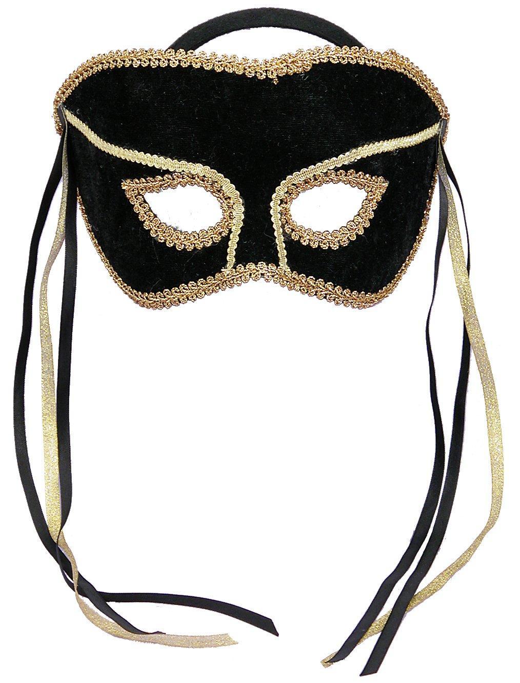 Black and Gold Masquerade Mask
