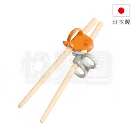 Combi 康貝 三階段彈力學習筷(左手) - 橘色【含收納袋】【悅兒園婦幼生活館】【618購物節】