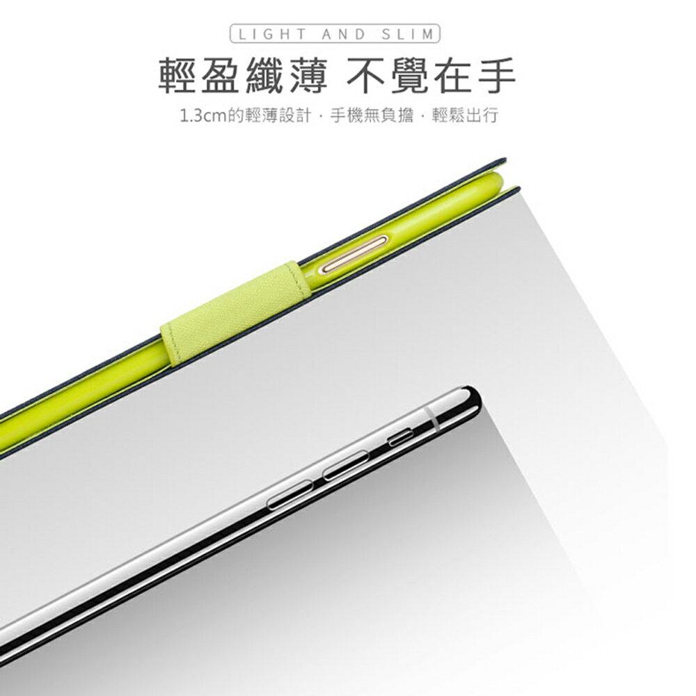 Samsung Galaxy S10e (5.8 吋) 馬卡龍雙色手機皮套 撞色側掀支架式皮套 矽膠軟殼 粉紅綠黑棕多色可選 4
