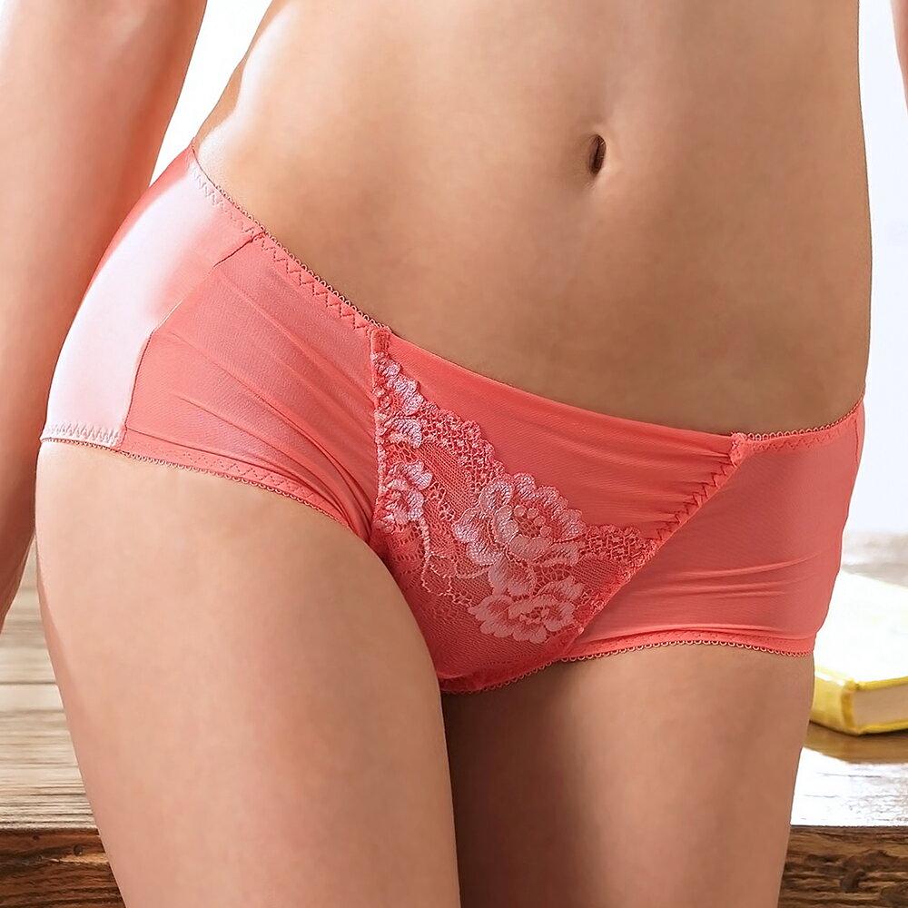 【Favori】美塑3D系列平口褲 (珊瑚粉)