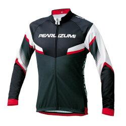 【7號公園自行車】PEARL iZUMi 3455-BL-41 15度冬季男性保暖長袖車衣(黑/白)