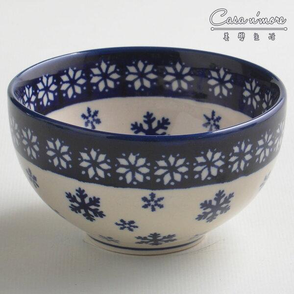 波蘭陶雪白冰花系列餐碗飯碗湯碗碗公12cm波蘭手工製
